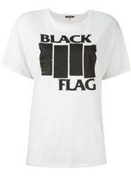 R 13 R13 'Black Flag' T Shirt White