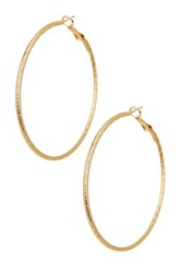 14Th And Union 55Mm Dc Hoop Earrings Metallic