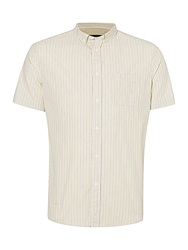Label Lab Coyote Stripe Short Sleeve Shirt Off White