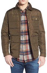 Men's Brixton 'Cass' Quilted Jacket Olive Brown