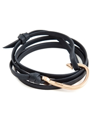 Miansai Fish Hook Bracelet Black