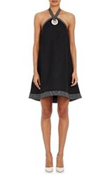 Lisa Perry Halter A Line Dress Black