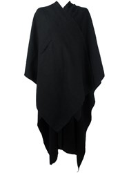 Isabel Benenato Oversized Cape Coat Black