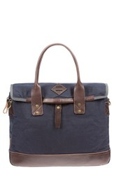 Will Leather Goods Men's 'Zig Zag Lookout' Briefcase Blue Navy