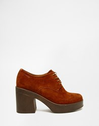 Vagabond Marva Tan Suede Lace Up Heeled Shoes Tan