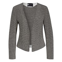 Oui Knitted Blazer Grey Off White