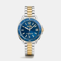 Coach Tatum Two Tone Sunray Dial Bracelet Watch Tt Denim