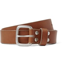 J.Crew 2.5Cm Brown Brody Washed Leather Belt Brown
