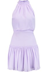 Elizabeth And James Carlita Silk Crepe Mini Dress Purple