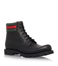 Gucci Marland Stripe Boots Male Black