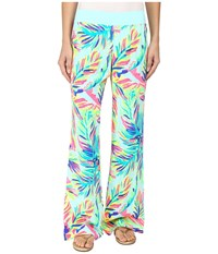Lilly Pulitzer Seaside Beach Palazzo Pants Multi Island Time Women's Casual Pants