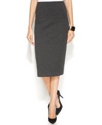 Vince Camuto Ponte Knit Midi Skirt Dark Heather Grey