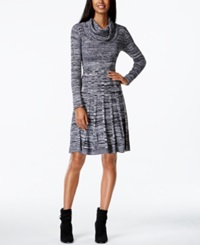Calvin Klein Cowl Neck Marled Sweater Dress