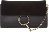 Chloe Black Faye Clutch