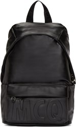Mcq By Alexander Mcqueen Black Leather Classic Backpack
