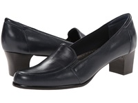 Trotters Gloria Navy Leather Women's Slip On Shoes Blue