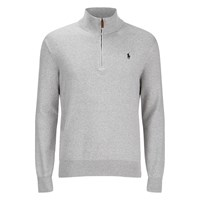 Polo Ralph Lauren Men's Half Zip Cotton Knitted Jumper Dove Grey