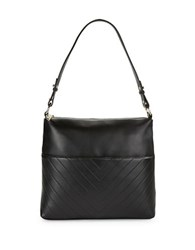 Karl Lagerfeld Leather Hobo Bag Black Gold