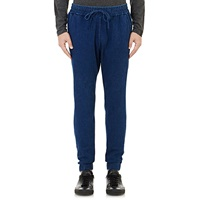 Denim Drawstring Jogger Pants Blue