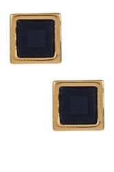 Marc By Marc Jacobs Rubber Square Stud Earrings Black