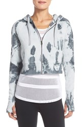 Alo Yoga Women's Alo 'Abree' Crop Fleece Hoodie Vapor Grey Tie Dye