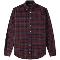 Gitman Brothers Vintage Japanese Flannel Check Shirt Red