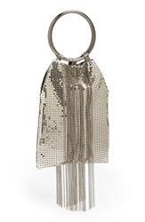 Whiting And Davis Cascade Fringe Evening Bag Pewter
