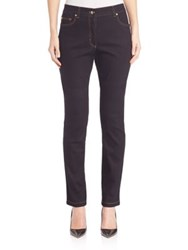 Escada Stretch Straight Leg Jeans Dark Blue