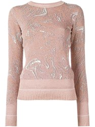 Lanvin Marbled Design Jumper Pink Purple