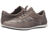 Ecco Touch Sneaker Tie Warm Grey Warm Greywarm Grey Metallic Women's Lace Up Casual Shoes Gray