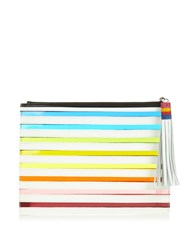 Mary Katrantzou Rainbow Striped Clutch