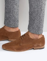 Kg By Kurt Geiger Dorchester Derby Shoes In Tan Suede Tan