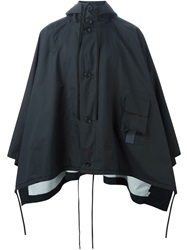 Berthold Hooded Cape Black