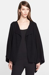 Donna Karan Boiled Cashmere Blend Swing Coat Black