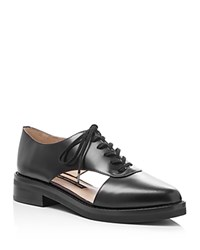French Connection Mazin Cutout Side Lace Up Oxfords Black