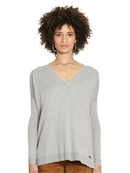 Polo Ralph Lauren Fine Knit V Neck Jumper Fawn Grey Heather