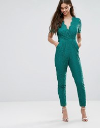 Darling Lace Jumpsuit Emerald Green