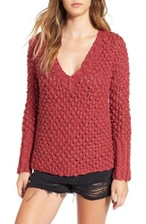 For Love And Lemons Women's 'Mulberry' V Neck Cotton Sweater