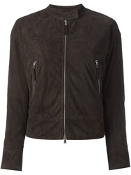 Eleventy Suede Jacket Brown