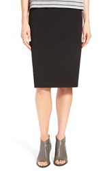 Eileen Fisher Women's Knee Length Stretch Knit Pencil Skirt Black