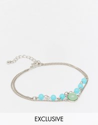 Designsix Bead Anklet Silver