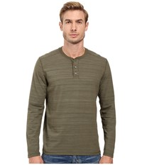 Ag Adriano Goldschmied Remi Long Sleeve Henley Caper Green Men's Long Sleeve Pullover Olive