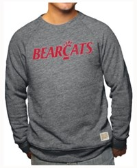 Retro Brand Men's Cincinnati Bearcats Tri Blend Crew Sweatshirt Black