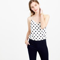 J.Crew Petite Carrie Cami In Polka Dot