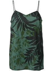 Scanlan Theodore Tropical Print Camisole Green