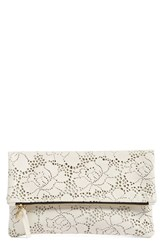 Clare V. Leather Lace Foldover Clutch