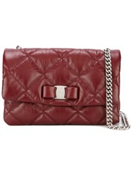 Salvatore Ferragamo 'Vara' Quilted Shoulder Bag Red
