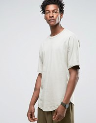 Kiomi Oversized T Shirt With Drop Shoulder Khaki Green