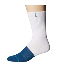 Stance Transition White Navy Men's Crew Cut Socks Shoes