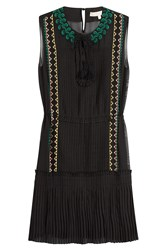 Vanessa Bruno Embroidered Dress Black